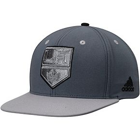 Men's adidas Gray Los Angeles Kings Team Logo Adjustable Snapback Hat