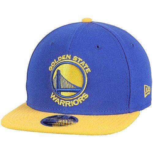 Men's New Era Royal/Gold Golden State Warriors 2-Tone Original Fit 9FIFTY Adjustable Snapback Hat
