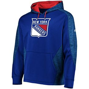 Men's Majestic Royal/Red New York Rangers Armor Therma Base Pullover Hoodie