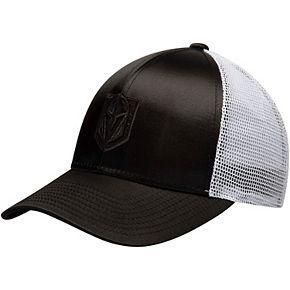 Women's adidas Black/White Vegas Golden Knights Meshback Adjustable Snapback Hat