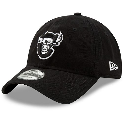 Men's New Era Black Chicago Bulls Back Half Series 9TWENTY Adjustable Hat