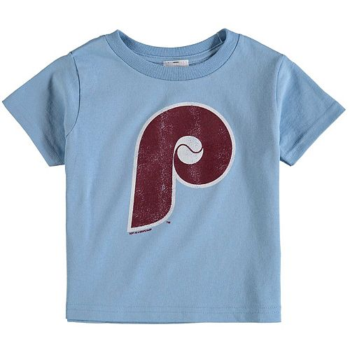 Toddler Soft As A Grape Light Blue Philadelphia Phillies Cooperstown Collection Shutout T-Shirt