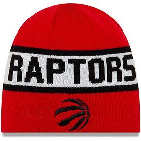 Men's New Era Red/Black Toronto Raptors Reverse Knit Beanie