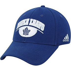 Men's adidas Blue Toronto Maple Leafs Coaches Team Color Arched Mascot Flex Hat