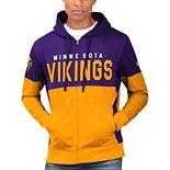 Men's Hands High Purple/Gold Minnesota Vikings Prime Time Full-Zip Hoodie