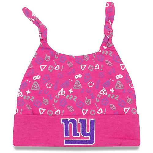 Infant New Era Pink New York Giants Pattern Cuffed Knit Hat