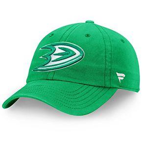 Men's Fanatics Branded Green Anaheim Ducks St. Patrick's Day Fundamental Adjustable Hat