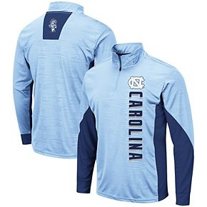 Men's Colosseum Carolina Blue North Carolina Tar Heels Bart Windshirt Quarter-Zip Pullover Jacket