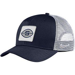 Men's Nike Navy Penn State Nittany Lions Classic 99 Alternate Logo Trucker Adjustable Snapback Hat
