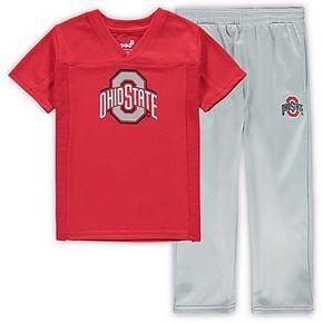 Preschool Scarlet/Gray Ohio State Buckeyes Training Camp T-Shirt and Pants Set
