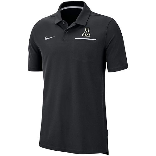 Men's Nike Black Appalachian State Mountaineers Sideline Elite Coach Performance Polo