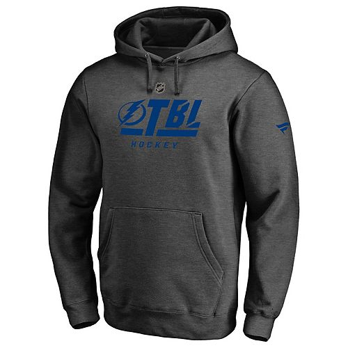 Men's Fanatics Branded Gray Tampa Bay Lightning Authentic Pro Tri-Code Pullover Hoodie