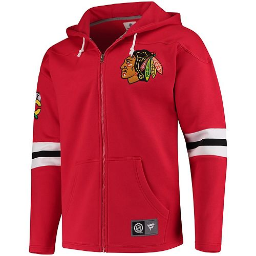 Men's Fanatics Branded Red Chicago Blackhawks Breakaway Full-Zip Hoodie