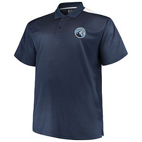 Men's Majestic Navy/White Minnesota Timberwolves Big & Tall Birdseye Polo