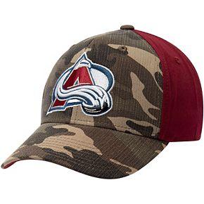 Men's adidas Camo/Burgundy Colorado Avalanche Adjustable Hat