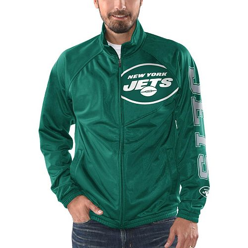 Men's G-III Sports by Carl Banks Green New York Jets Synergy Track Full-Zip Jacket
