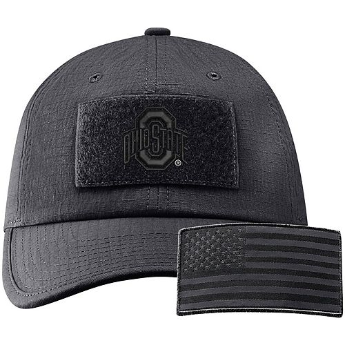 Men's Nike Anthracite Ohio State Buckeyes Tactical Heritage 86 Team Performance Adjustable Hat