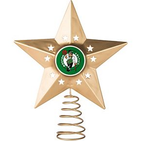 Boston Celtics Gold Tree Topper