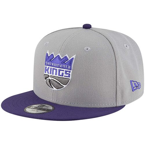 Youth New Era Gray/Purple Sacramento Kings Two-Tone 9FIFTY Snapback Adjustable Hat