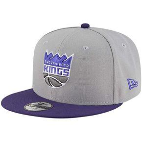 Youth New Era Gray/Purple Sacramento Kings Two-Tone 9FIFTY Snapback Adjustable Hat