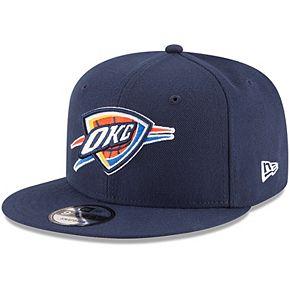 Men's New Era Navy Oklahoma City Thunder Official Team Color 9FIFTY Adjustable Snapback Hat