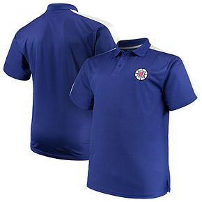 Men's Majestic Royal/White LA Clippers Big & Tall Birdseye Polo