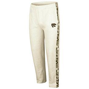 Men's Colosseum Heathered Oatmeal Kansas State Wildcats OHT Military Appreciation Desert Camo Fleece Pants