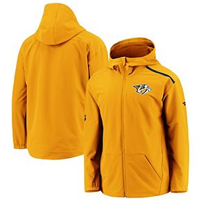 Women's Fanatics Branded Gold Nashville Predators Rinkside Full-Zip Hoodie