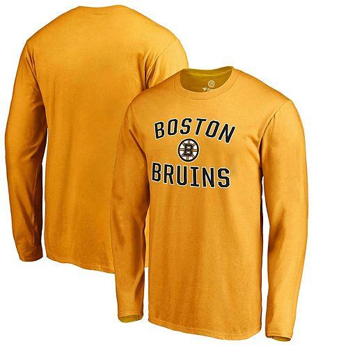 Men's Gold Boston Bruins Victory Arch Long Sleeve T-Shirt