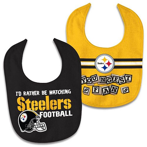 Newborn & Infant WinCraft Pittsburgh Steelers 2-Pack Bib Set