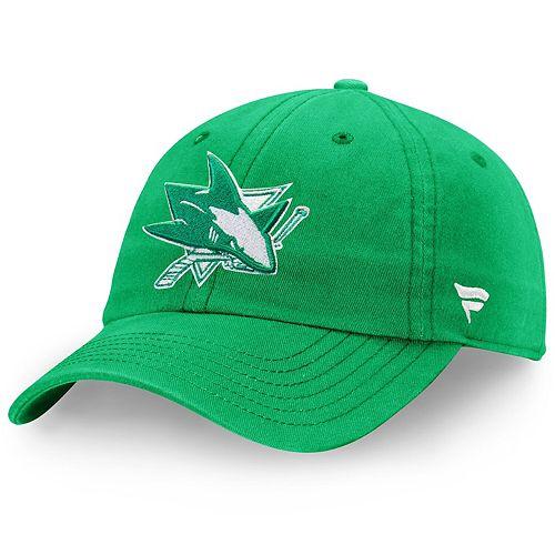 Men's Fanatics Branded Green San Jose Sharks St. Patrick's Day Fundamental Adjustable Hat