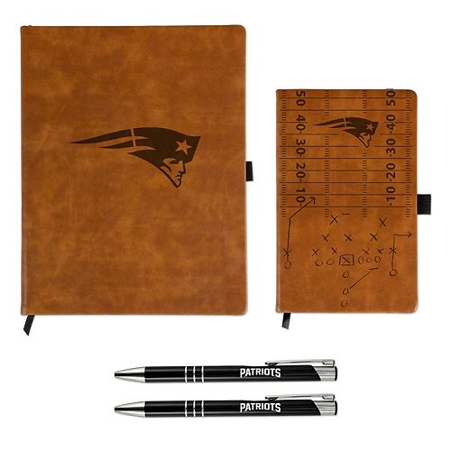 Sparo New England Patriots Laser-Engraved Notepad & Pen Gift Set