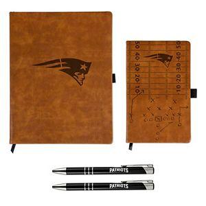 Sparo New England Patriots Laser-Engraved Notepad & Pen Gift Set