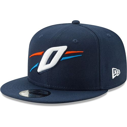 Men's New Era Navy Oklahoma City Thunder Back Half 9FIFTY Adjustable Hat