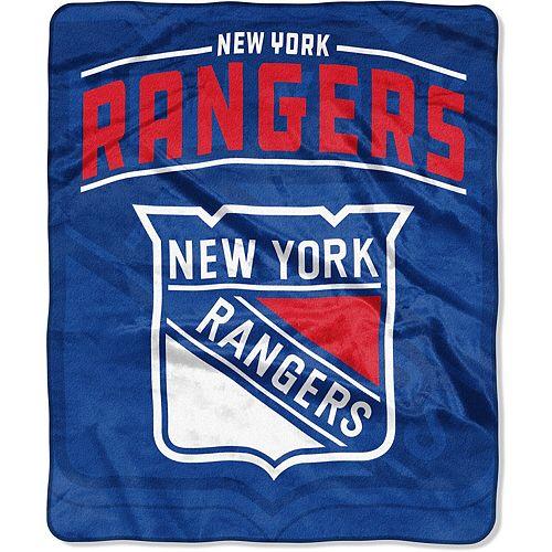 "The Northwest Company New York Rangers Hip Check 50"" x 60"" Raschel Throw Blanket"