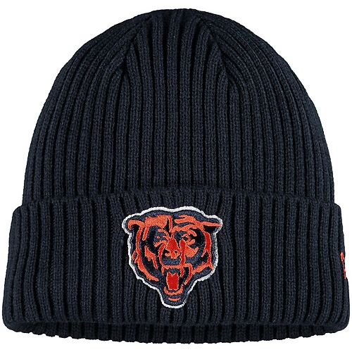 Youth New Era Navy Chicago Bears Logo Core Classic Cuffed Knit Hat