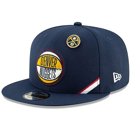 Men's New Era Navy Denver Nuggets 2019 NBA Draft 9FIFTY Snapback Adjustable Hat