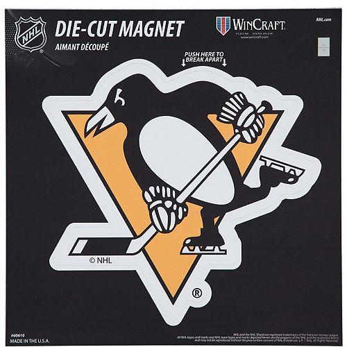 "Pittsburgh Penguins 12"" x 12"" Car Magnet"
