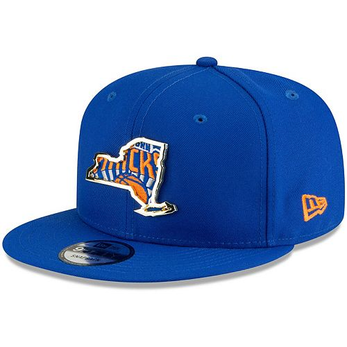 Men's New Era Blue New York Knicks Metal & Thread 9FIFTY Adjustable Hat