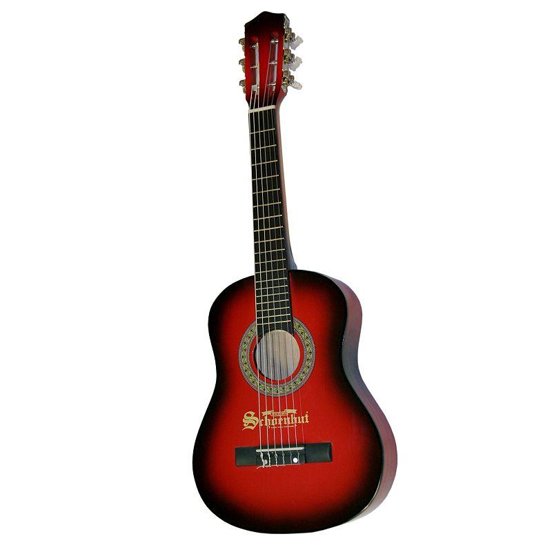Schoenhut Junior 6-String Acoustic Guitar (Black/Red)