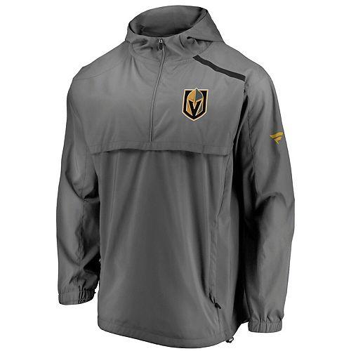 Men's Fanatics Branded Gray Vegas Golden Knights Authentic Pro Rinkside Anorak 1/4-Zip Jacket