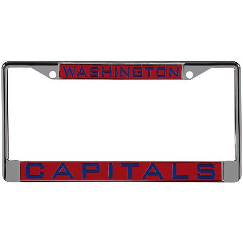WinCraft Washington Capitals Laser Inlaid Metal License Plate Frame