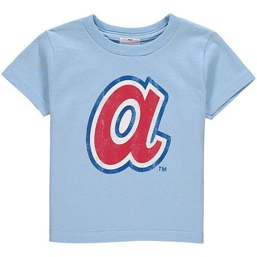 Toddler Soft As A Grape Light Blue Atlanta Braves Cooperstown Collection Shutout T-Shirt