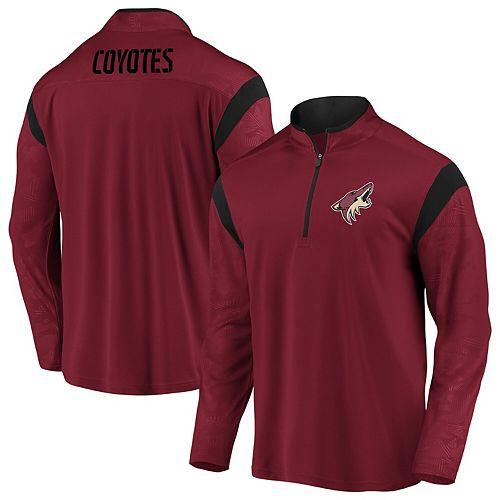 Men's Fanatics Branded Garnet Arizona Coyotes Mission Half-Zip Pullover Jacket