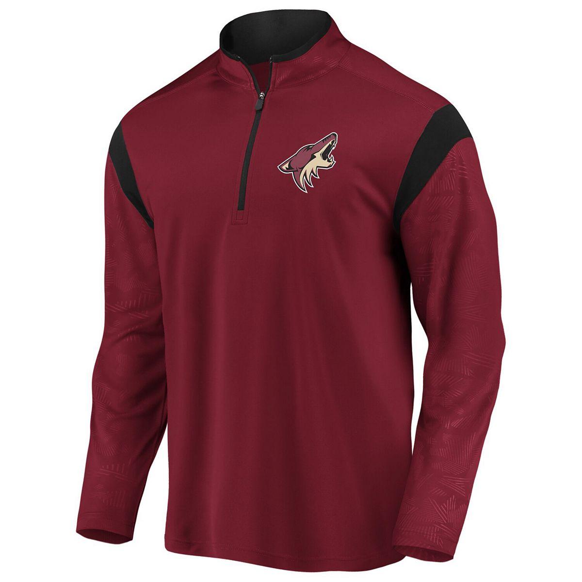 Men's Fanatics Branded Garnet Arizona Coyotes Mission Half-Zip Pullover Jacket wNTm1