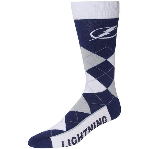 For Bare Feet Tampa Bay Lightning Argyle Crew Socks