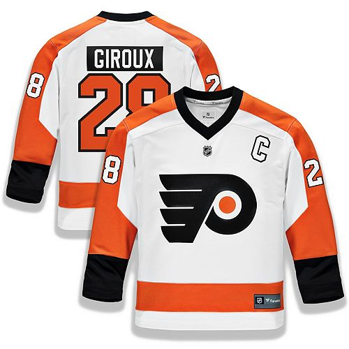 Youth Fanatics Branded Claude Giroux White Philadelphia Flyers Replica Player Jersey