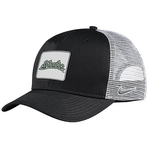 Men's Nike Black Michigan State Spartans Classic 99 Alternate Logo Trucker Adjustable Snapback Hat
