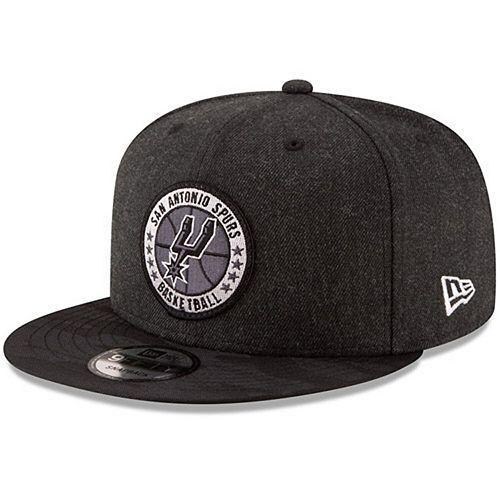Men's New Era Black San Antonio Spurs 2018 Tip-Off Series 9FIFTY Adjustable Hat