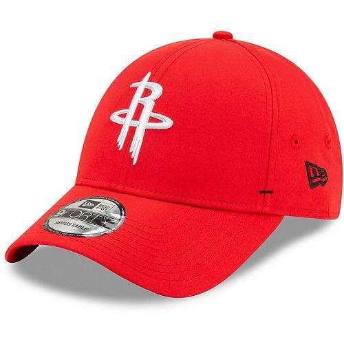 Men's New Era Red Houston Rockets Featherweight Dash 9FORTY Adjustable Hat